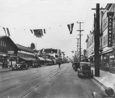 College Avenue near Shafter, Rockridge District, 1930