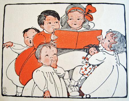 Vintage storytime illustration by Jane Allen Boyer, 1912