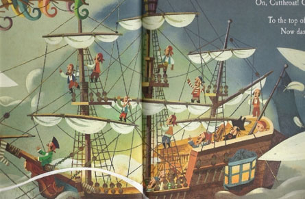 detail from A Pirate's Night Before Christmas by Phillip Yates