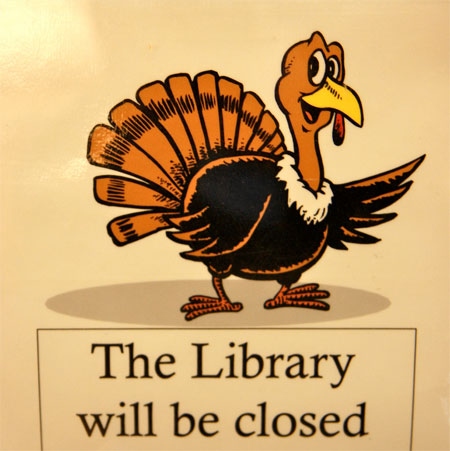 Closed for Thankgiving, by Lester Public Library on Flickr