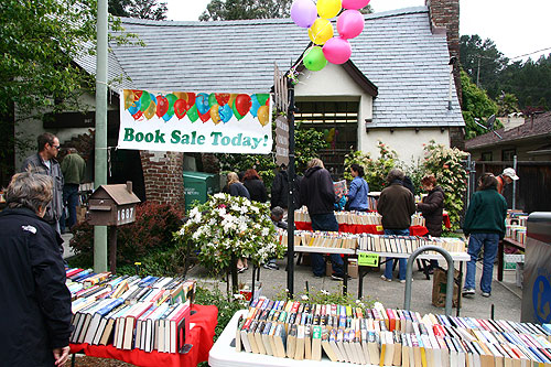 Friend of Montclair Library set up for the book sale