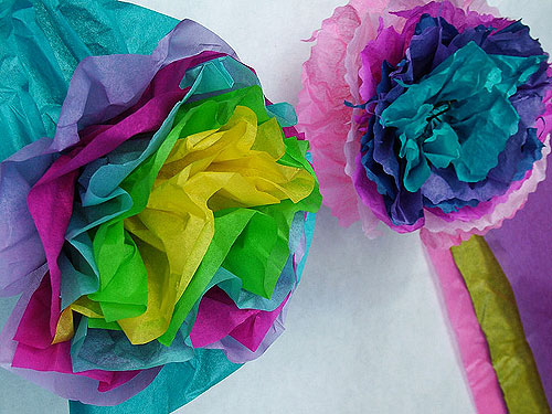 Tissue paper flowers photo by Janet Dancer via Flickr
