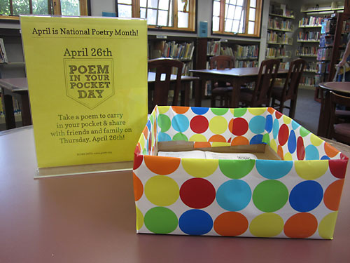 Poems in Your Pocket for kids at the Montclair Library