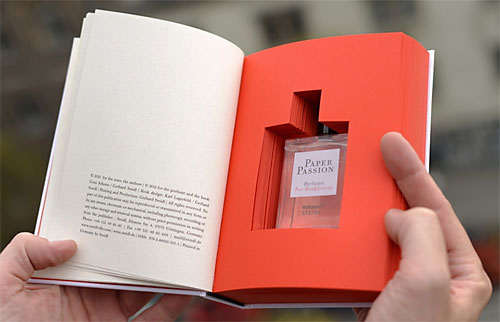 Book-scented perfume.  Photo via Tumblr.