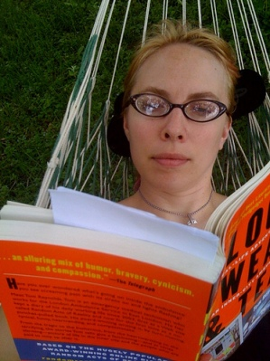 Reading in a hammock, photo by Sonya Green via Flickr