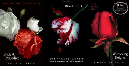 HarperCollins classic covers that mimic the Twilight series