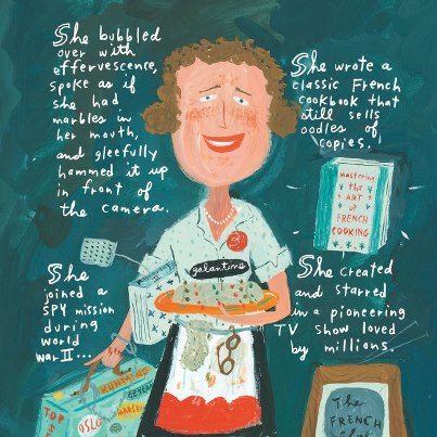 Julia Child illustration by Jessie Hartland