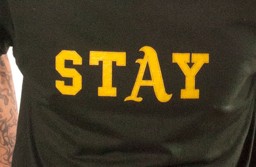 StAy tee shirt by Oaklandish