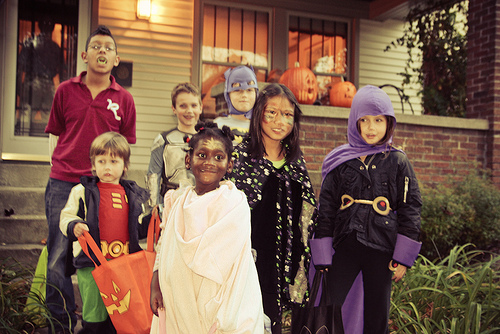 Trick or treating photo by Flickr user Steven Depolo