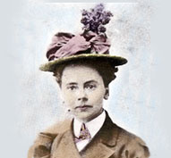 Julia Morgan's passport photo, from Landmarks California