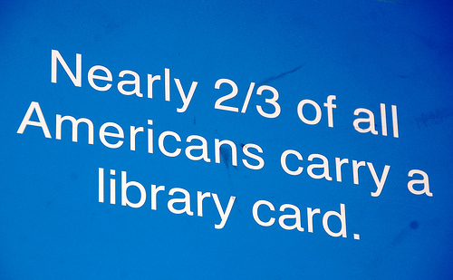 Nearly 2/3 of all Americans carry a library card - image by Long Beach Public Library