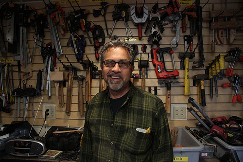 Ty Yurgelevic of the Tool Lending Library - photo by Steve Saldivar via Flickr