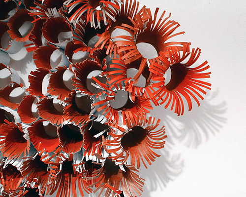 Art made from cardboard tubes by erika g. via Flickr