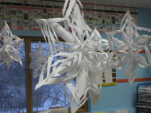 Paper snowflakes photo by Kate Ter Haar via Flickr