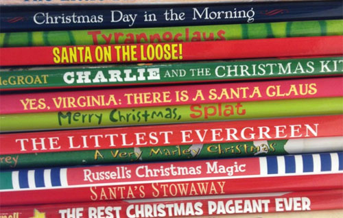 Christmas book stack from HarperCollins Children's