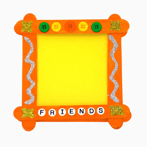 Popsicle stick picture frame by Elmer's