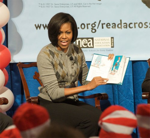 Michelle Obama on Read Across America Day 2010