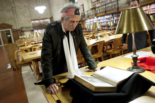 Keith Richards at NYPL - photo by Jori Klein