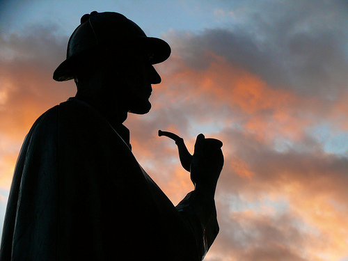 Sherlock Holmes statue on Baker Street, London - photo by dynamosquito via Flickr