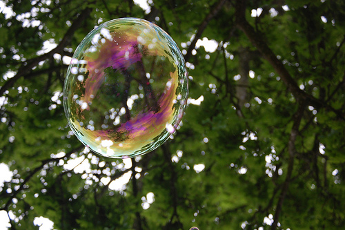Bubble photo by Peter Taylor via Flickr