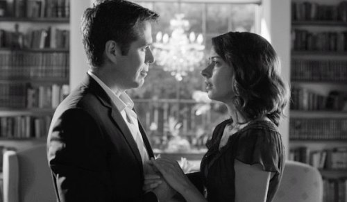 Alexis Denisof as Benedick and and Amy Acker as Beatrice in Joss Whedon's Much Ado About Nothing