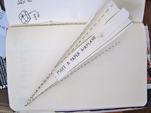 Paper airplane photo by davidd via Flickr