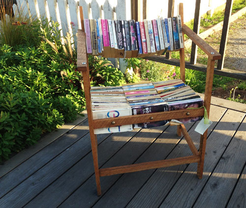 Chair made from paperback books