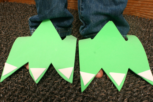 Monster feet photo from Make and Takes