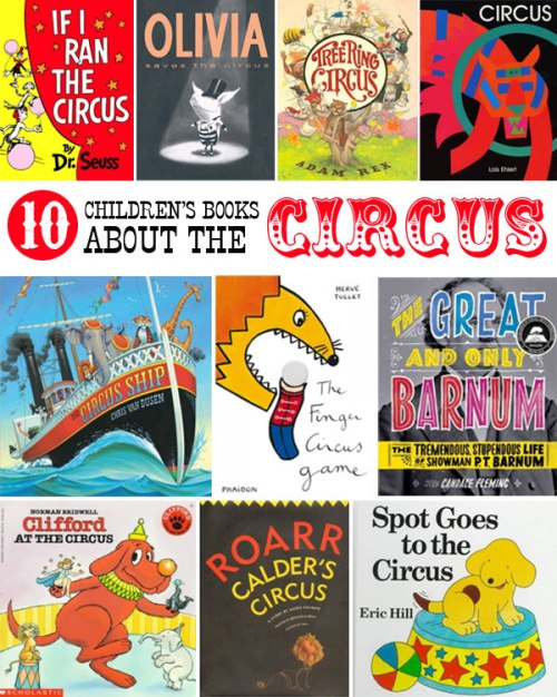 Children's books about the circus, a list by the Friends of Montclair Library