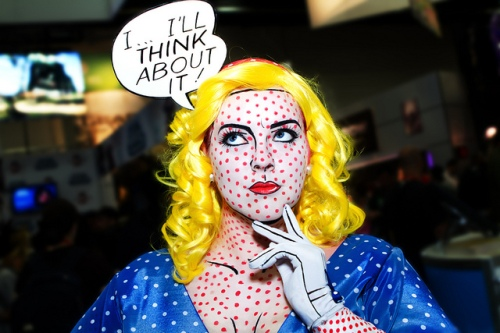 Lichtenstein cosplayer at Comic-Con - photo by Tony Aceves via Flickr