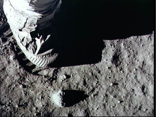 Apollo 11 Astronaut Footprint on the Moon photo by NASA Marshall Space Flight Center via Flickr