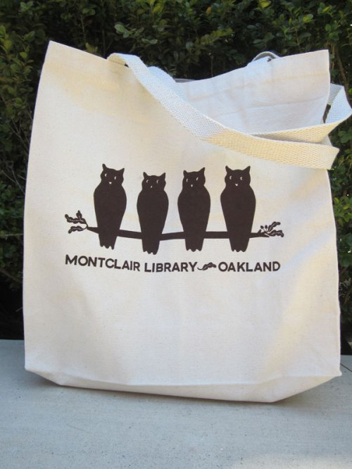 New Montclair Library tote bags