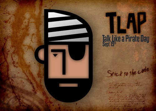 Talk Like a Pirate Day graphic by Joe Throckmorton via Flickr