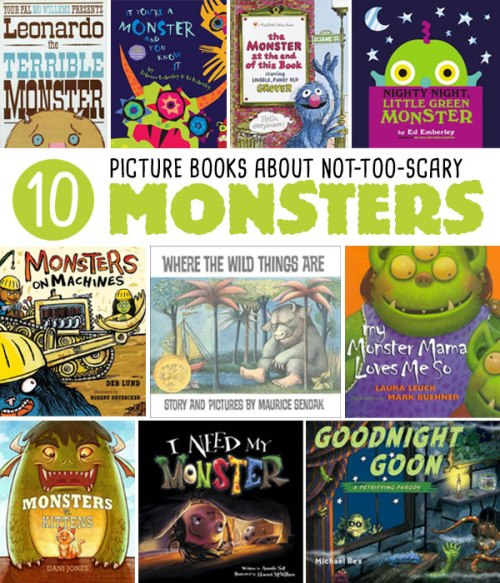 10 Picture Books about Not-Too-Scary Monsters, a list by the Friends of Montclair Library