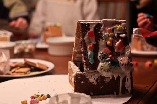 Graham cracker house photo by Jessica Lucia via Flickr