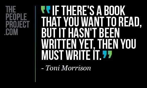 Quote about writing from Toni Morrison