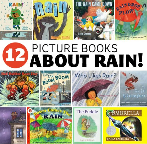 12 Picture Books About Rain, a list by the Friends of Montclair Library
