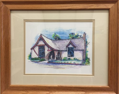 Artwork of Montclair Library by Betty Irvine