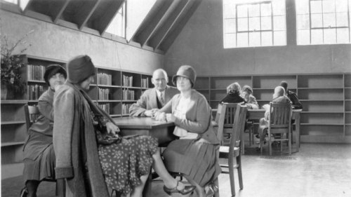 Interior of Montclair, Oakland branch library c. 1930