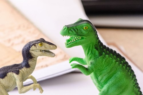 Toy dinosaurs photo by m01229 via Flickr