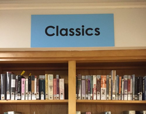 New library signage