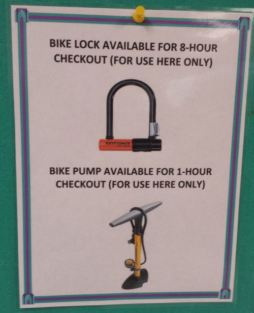 Borrow a bike lock at the library