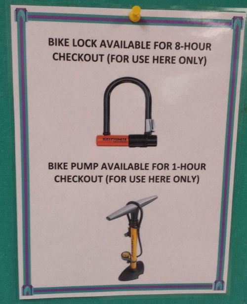 Borrow a bike lock at the library