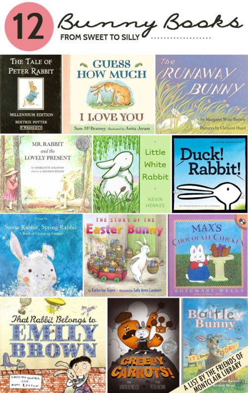 Bunny Books, a list by the Friends of Montclair Library