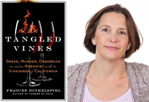 Author Frances Dinkelspiel and her book, Tangled Vines