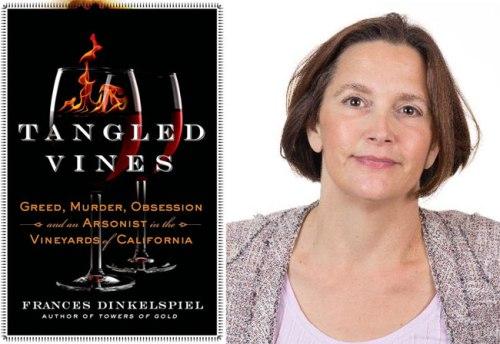 Author Frances Dinkelspiel and her book, Tangled Vines