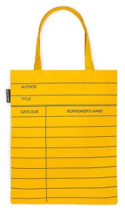 Library Card Tote by Out of Print