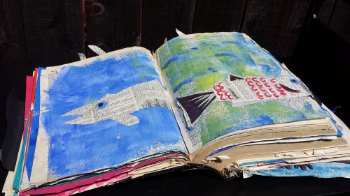 Beach Book Art by Beach Elementary students, Group 1st place UNBOUND 2016