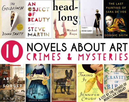 Novels about art crimes & mysteries, a list by the Friends of Montclair Library