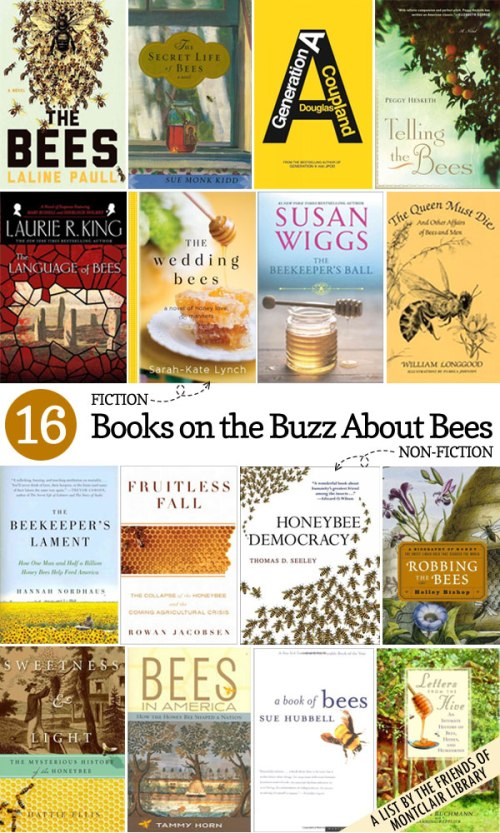 Books about bees, a list by the Friends of Montclair Library